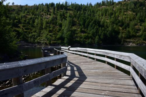 Wooden pier on Coldwater Lake