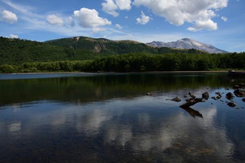 Beautiful Lake with blue sky reflection