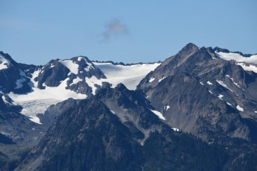 Hurricane RIdge, snow clad mountain