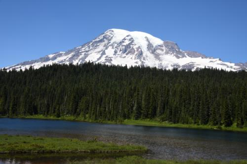 Mount Rainier view from Reflection Lake