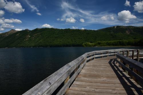Walkable path on top of lake